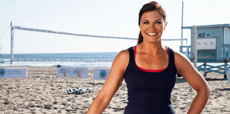 Volleyball Olympic champion Misty May-Treanor smiling on the beach