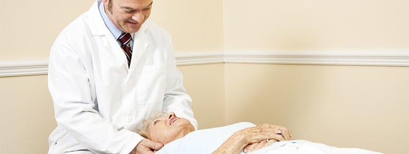 elderly chiropractic adjustment