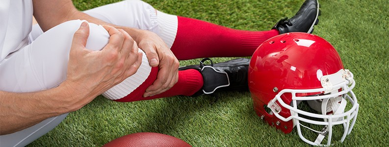 football injuries in NFL and NCAA