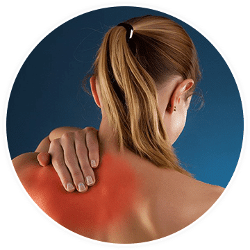 a woman suffering pain after an injury
