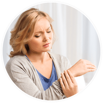 a woman who needs treatment for complex regional pain syndrome