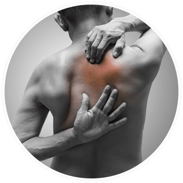 a man who needs treatment for myofascial pain syndrome