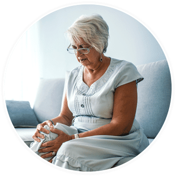 a woman in need of osteoarthritis pain treatment