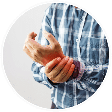 a man in need of pain treatment for rheumatoid arthritis