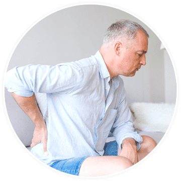 a man in need of pain treatment for spinal stenosis